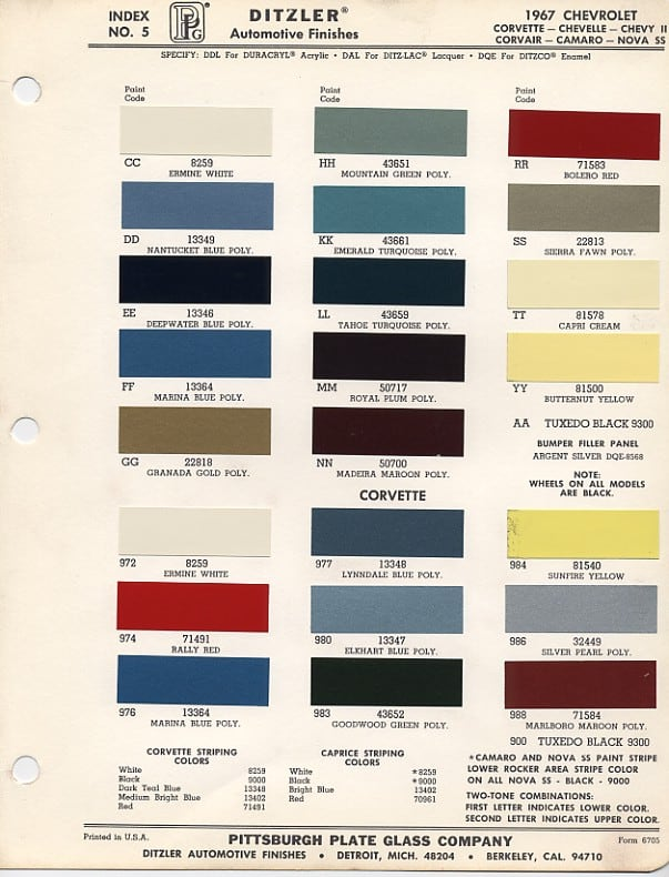 1968-Chevrolet-Camaro-Factory-Paint-Chip-Chart